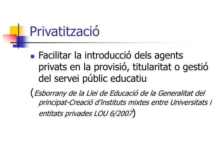 Privatització