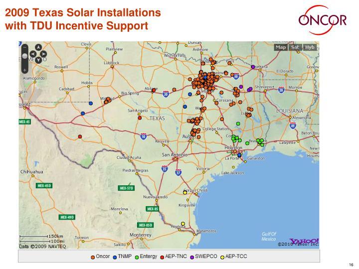 2009 Texas Solar Installations