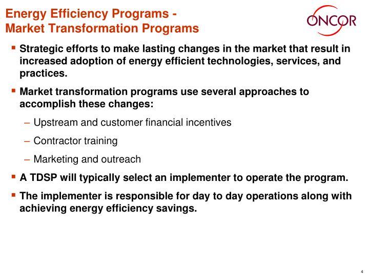 Energy Efficiency Programs -