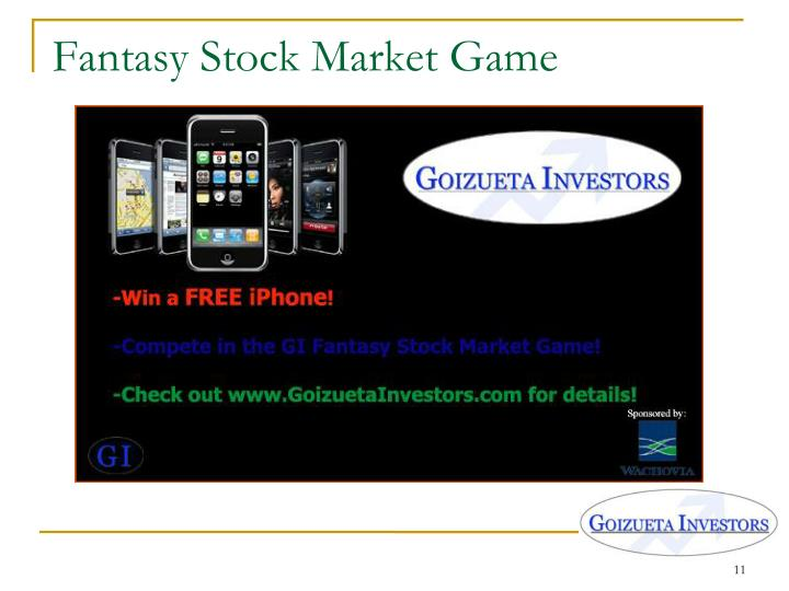 Fantasy Stock Market Game