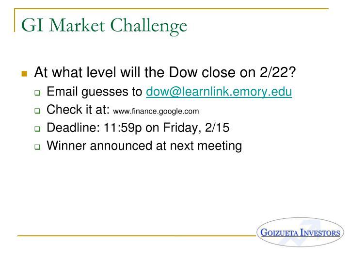 GI Market Challenge