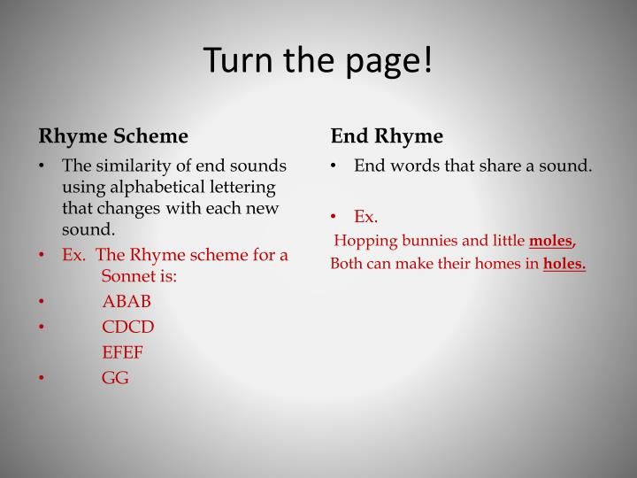 Turn the page!