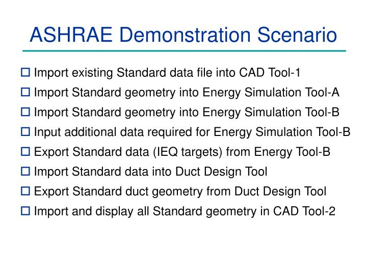 ASHRAE Demonstration Scenario