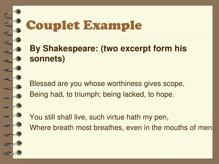 Couplet Example