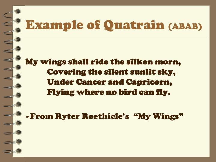 Example of Quatrain