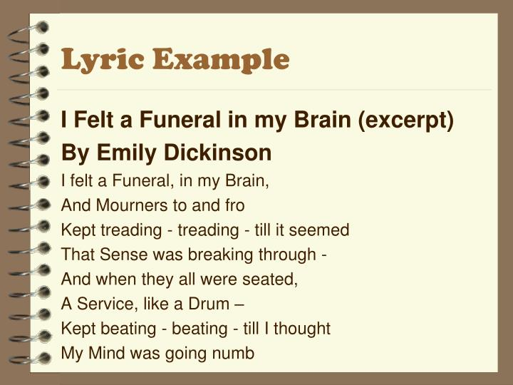 Lyric Example
