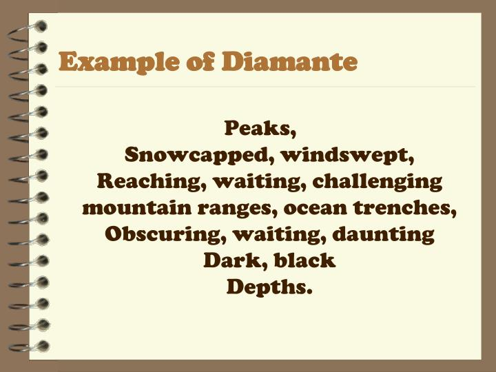 Example of Diamante