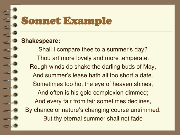 Sonnet Example