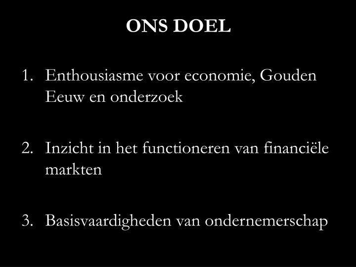 ONS DOEL