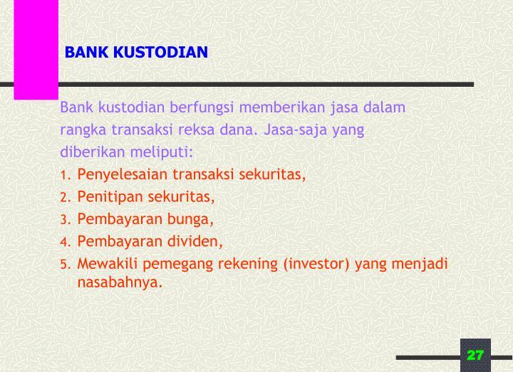 BANK KUSTODIAN