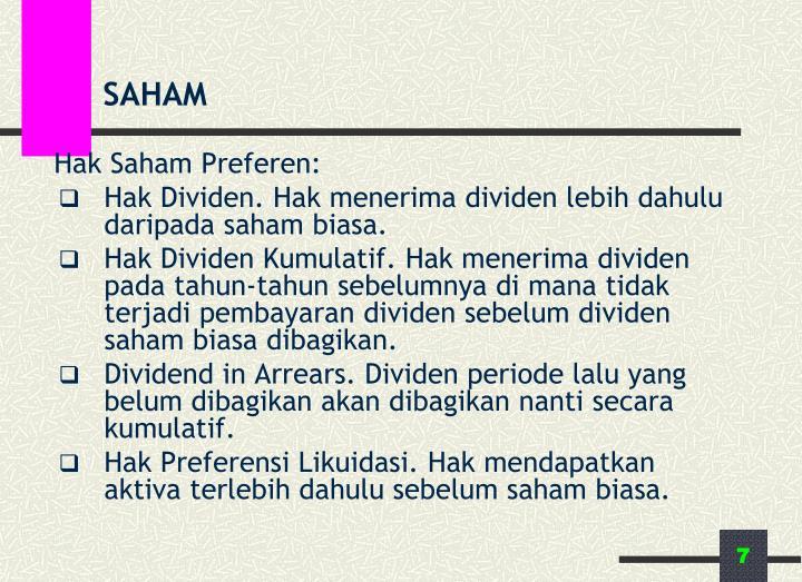 Hak Saham Preferen: