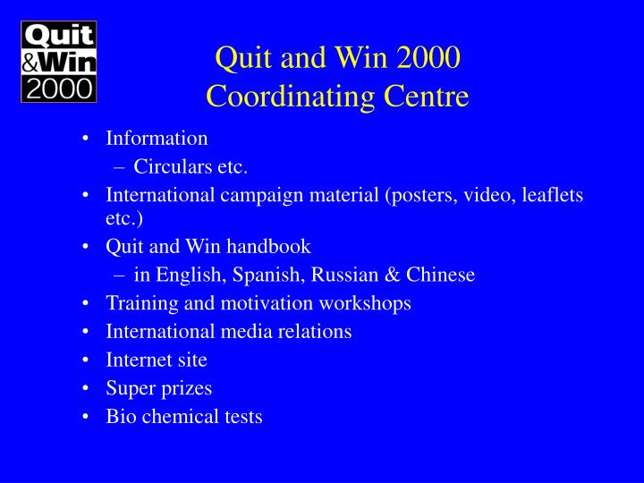 Quit and Win 2000