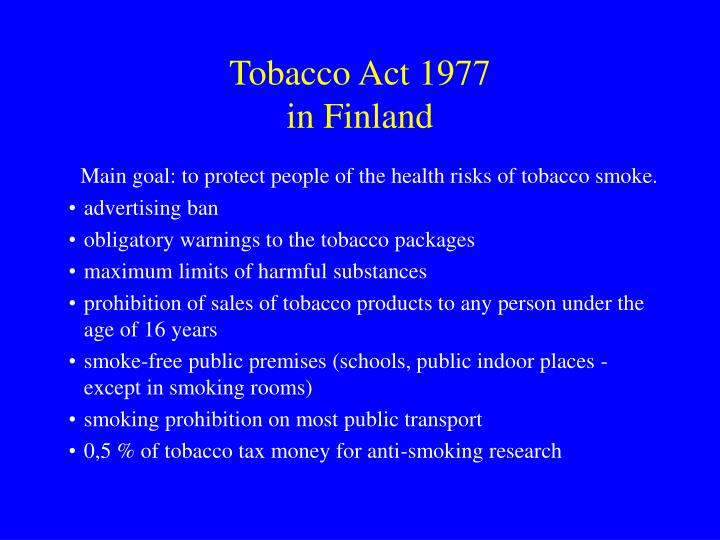 Tobacco Act 1977