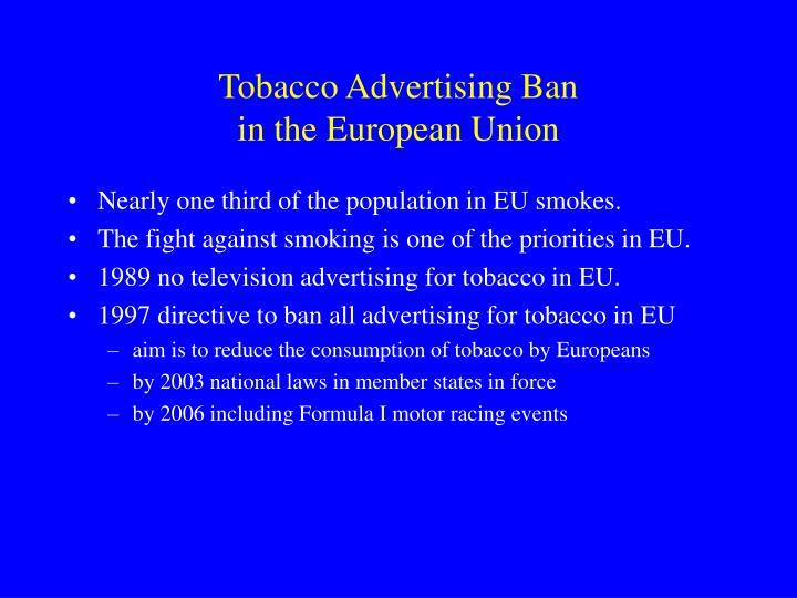 Tobacco Advertising Ban