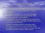 manfaat go public