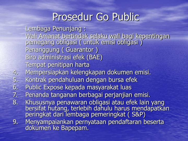 Prosedur Go Public