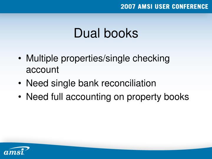 Dual books