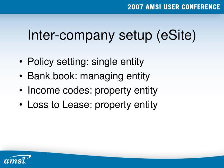 Inter-company setup (eSite)