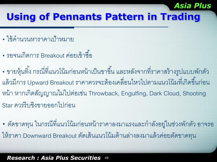Using of Pennants Pattern in Trading