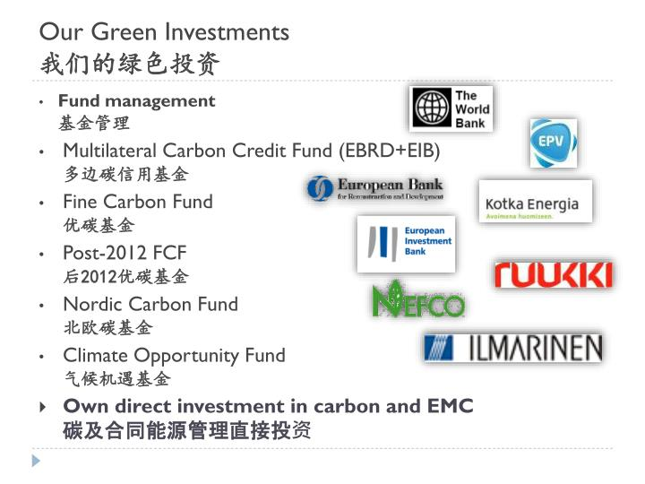 Our Green Investments