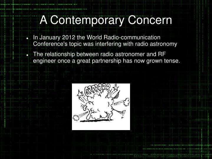 A Contemporary Concern