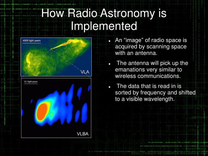 How Radio Astronomy is Implemented