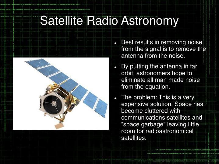 Satellite Radio Astronomy