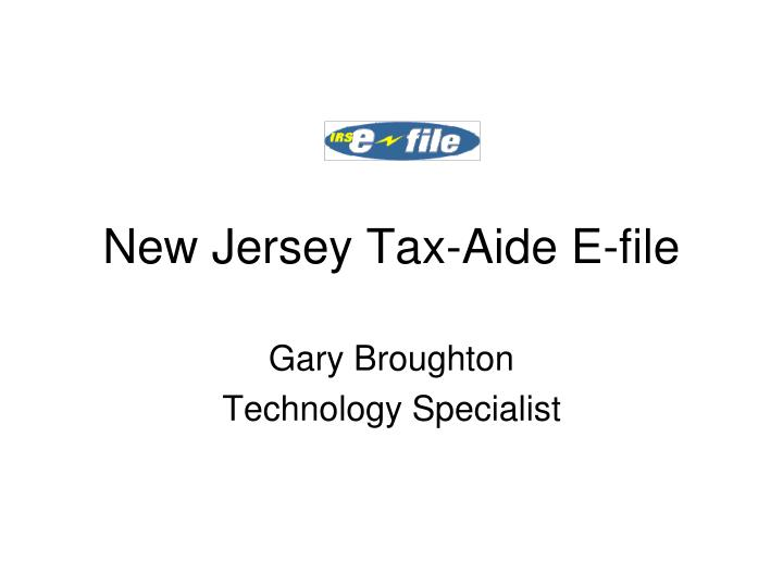 New jersey tax aide e file