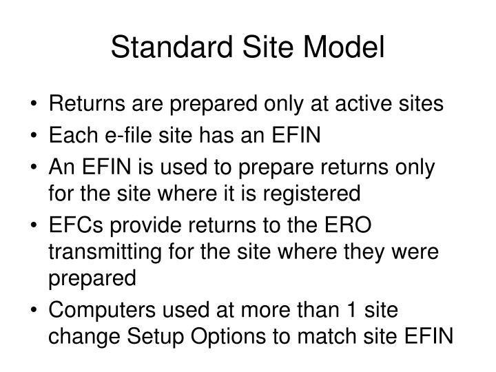 Standard Site Model