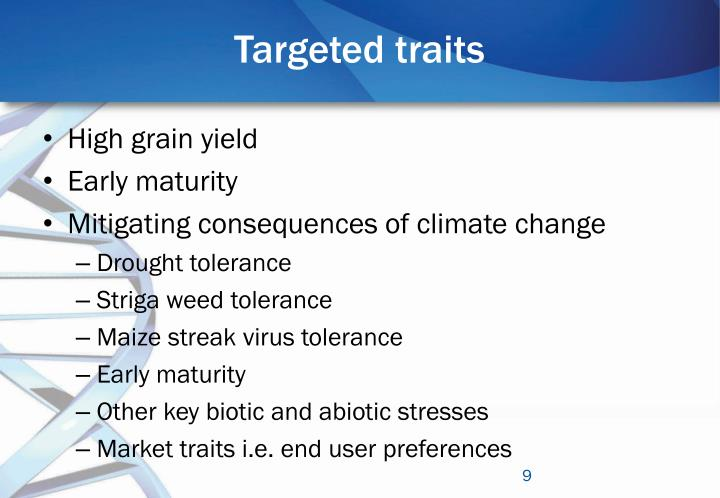 Targeted traits