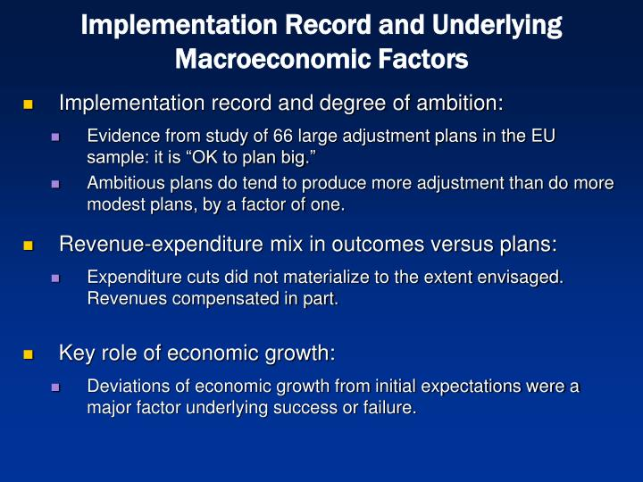 Implementation Record and Underlying Macroeconomic Factors