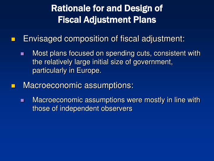 Rationale for and Design of