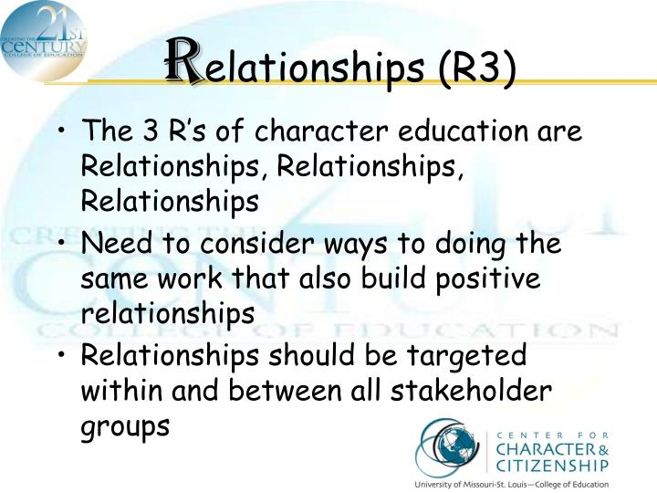 relationship between character and society in A person of character lives a worthy life guided by moral principles  a society,  reached a consensus: namely, on the importance of good character, and some   the most important ingredient we put into any relationship is not what we say or.