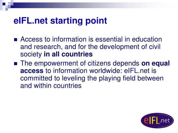eIFL.net starting point