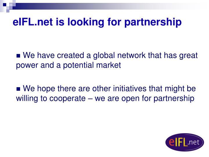 eIFL.net is looking for partners