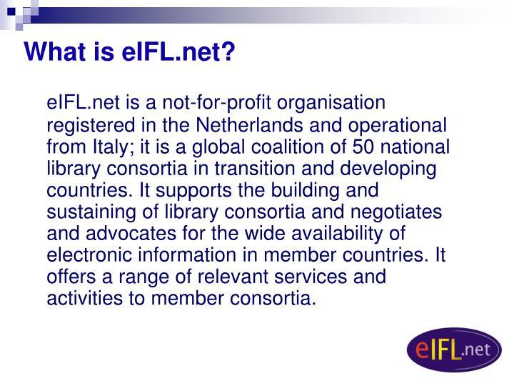 What is eIFL.net?