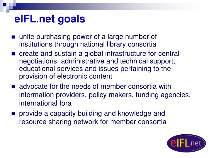 eIFL.net goals