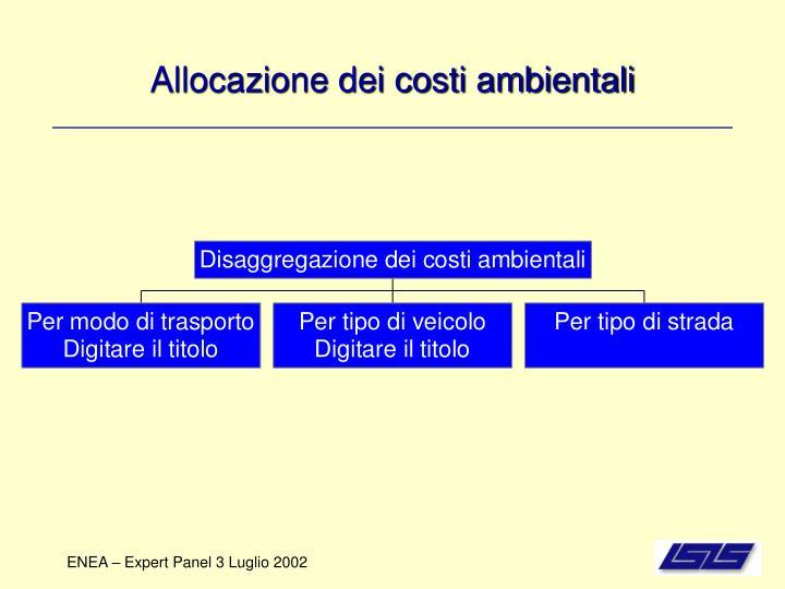 Allocazione dei costi ambientali