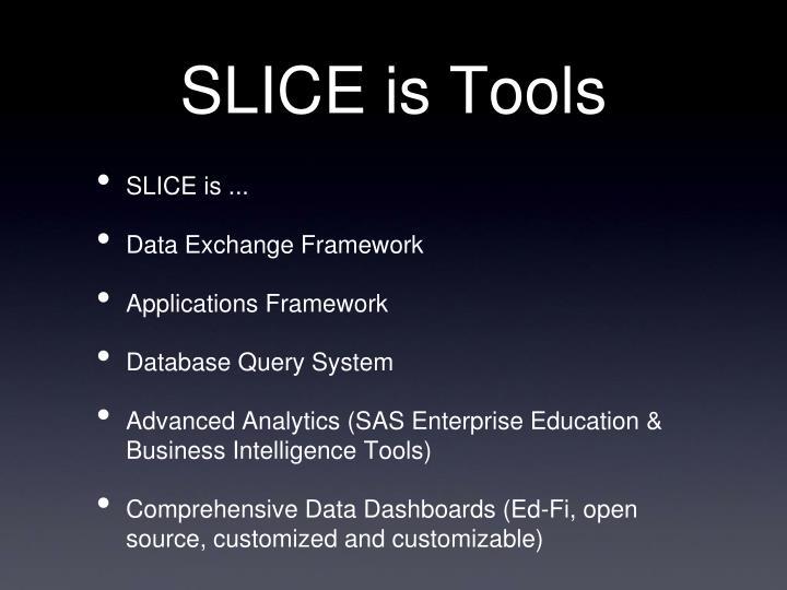 SLICE is Tools