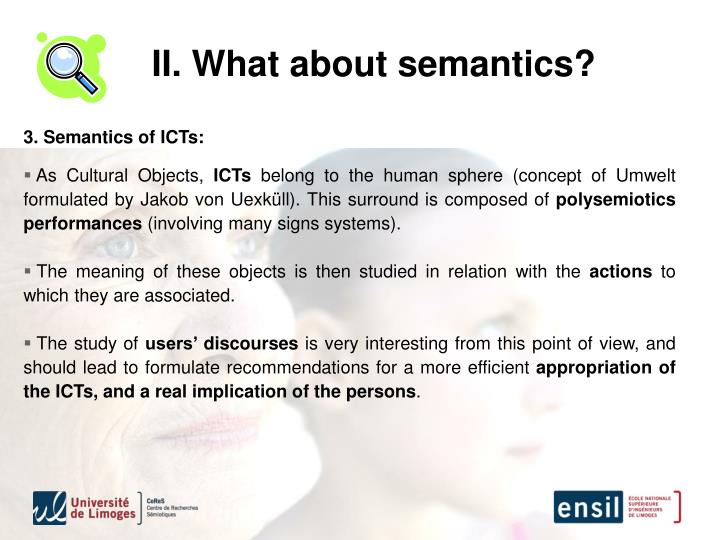 II. What about semantics?