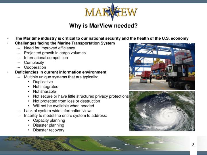 Why is MarView needed?