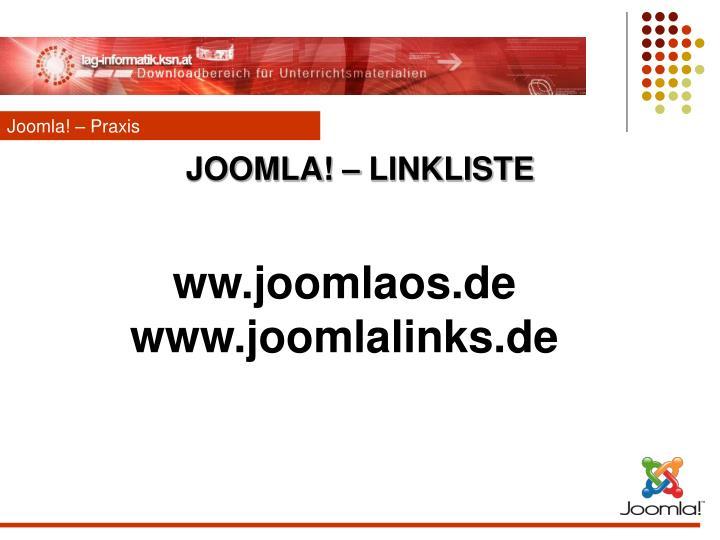 Joomla! – Praxis