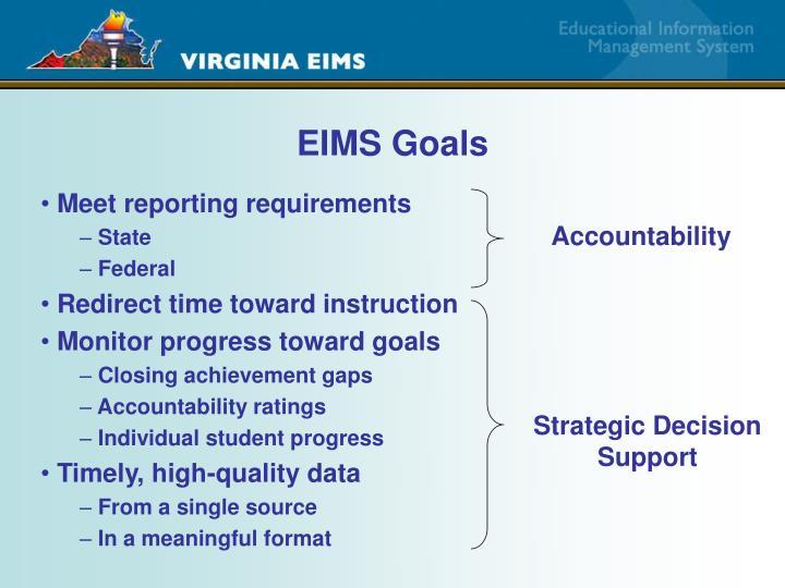 EIMS Goals