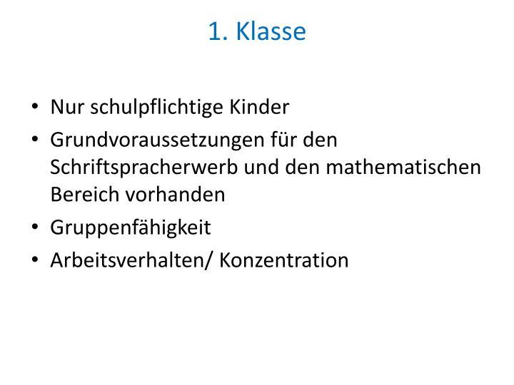 1. Klasse