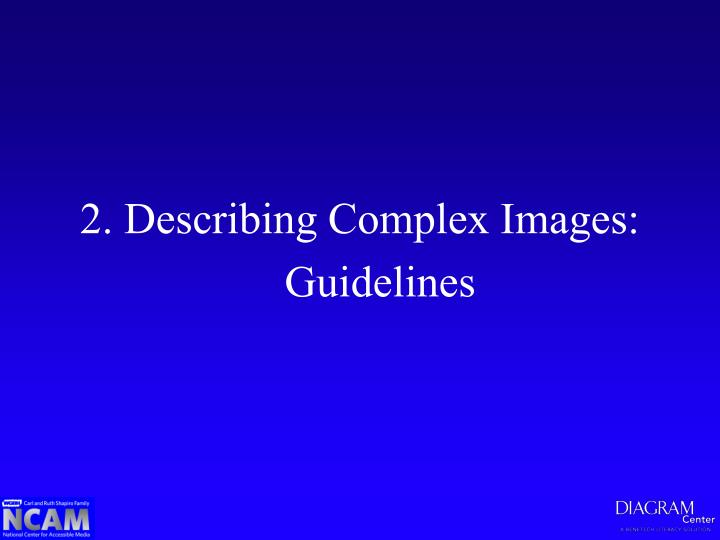 2. Describing Complex Images: Guidelines