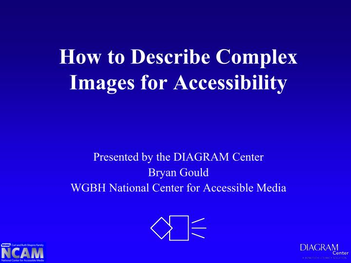 How to describe complex images for accessibility