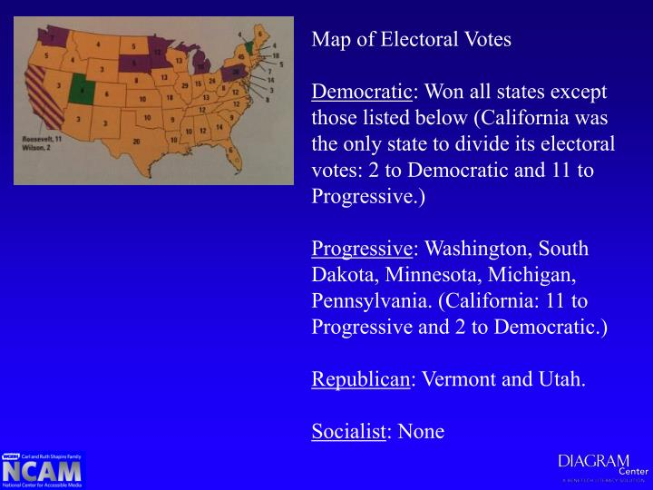 Map of Electoral Votes