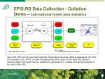 efis rd data collection collation demo sub national forest area statistics