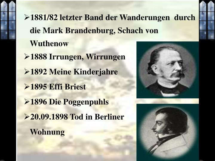 1881/82 letzter Band der Wanderungen  durch