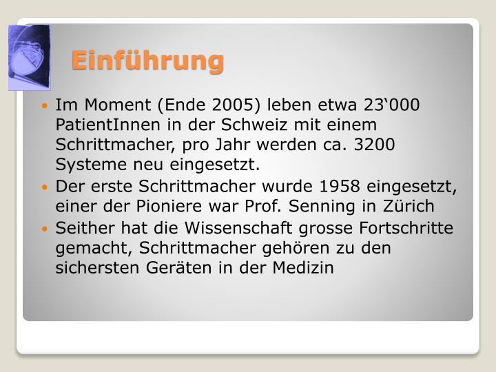 Im Moment (Ende 2005) leben etwa 23'000